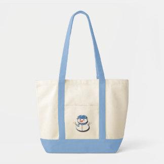Pure White Snowman Tote Bag