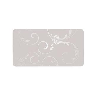 Pure white swirls on grey texture address label
