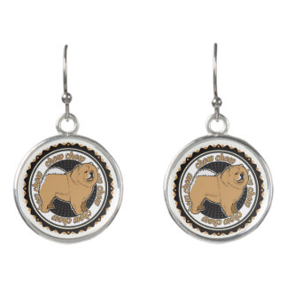 Purebred Chow Chow Dog Lovers Gift Earrings