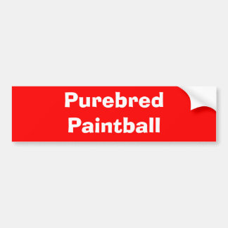 Purebred Paintball Bumper Sticker