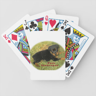 pureinnocence rottweiler puppy bicycle playing cards