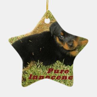 pureinnocence rottweiler puppy ceramic ornament