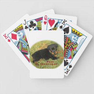 pureinnocence rottweiler puppy poker deck
