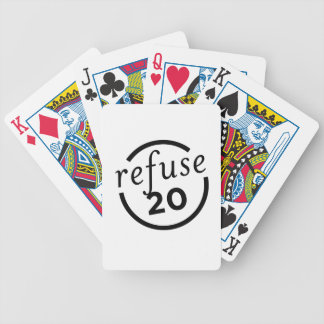 Purely-Refuse-Logo-V1-black Bicycle Playing Cards