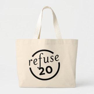 Purely-Refuse-Logo-V1-black Large Tote Bag