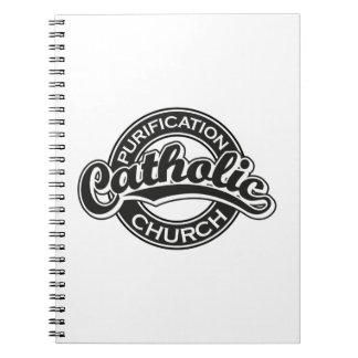 Purification Catholic Church Black Spiral Note Books