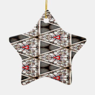 Purifying Abstinence Pattern 3 Ceramic Ornament