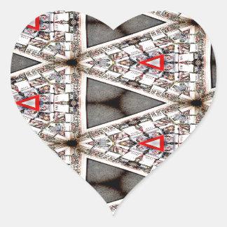 Purifying Abstinence Pattern 3 Heart Sticker