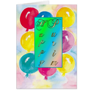 Purim Card-Balloons Card