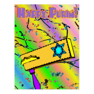 Purim Postcard