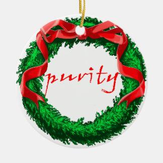 Purity Ceramic Ornament