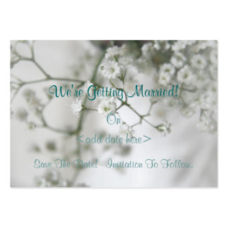 Purity Save The Date Card Pack Of Chubby Business Cards