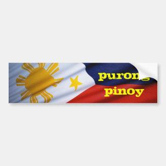 purong pinoy bumper sticker
