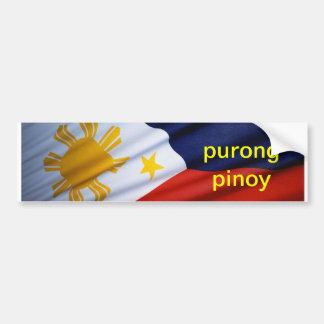 purong pinoy**** bumper sticker