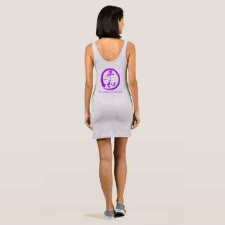 Purpe zen circle • Kanji symbol for peace Sleeveless Dress