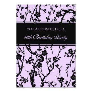 Purple 16th Birthday Party Invitations