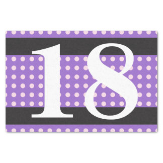Purple 18th Birthday Pink Polka Dots Tissue Paper