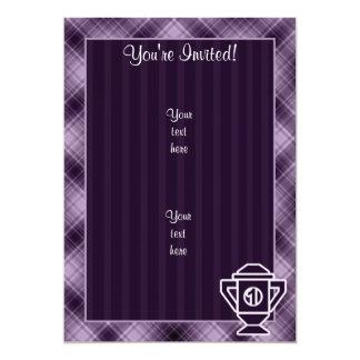 Purple 1st Place Trophy 13 Cm X 18 Cm Invitation Card