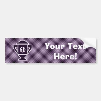 Purple 1st Place Trophy Car Bumper Sticker