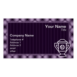 Purple 1st Place Trophy Business Card Template