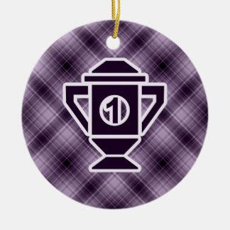 Purple 1st Place Trophy Christmas Tree Ornament