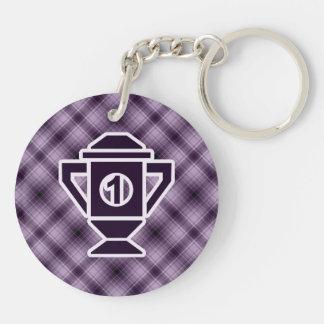 Purple 1st Place Trophy Keychain