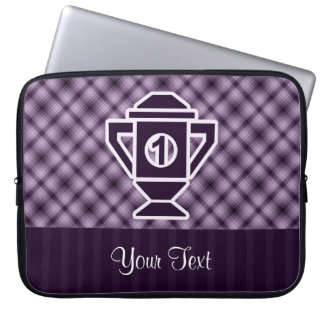 Purple 1st Place Trophy Laptop Computer Sleeves