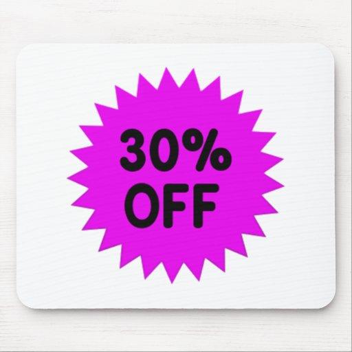Purple 30 Percent Off Mouse Pads