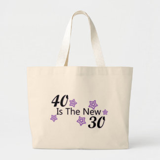 Purple 40 is the New 30 Jumbo Tote Bag
