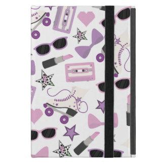 Purple 80s Pattern iPad Mini Case With Kickstand
