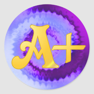 Purple A-Plus Stickers