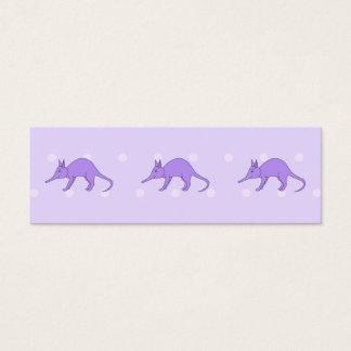 Purple Aardvark Mini Business Card