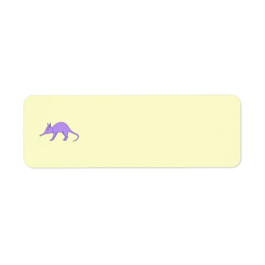 Purple Aardvark Return Address Label