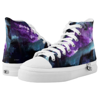 Purple Abstract #2 Printed Shoes