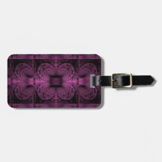 Purple Abstract Art Geometric Design Luggage Tag