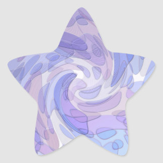 Purple Abstract Art Modern Artwork Star Sticker