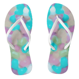 Purple Abstract. Colorful. Multicolored. Thongs