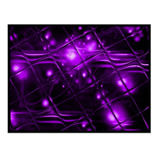 Purple Abstract Design Postcard