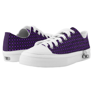 Purple Abstract Design Printed Shoes