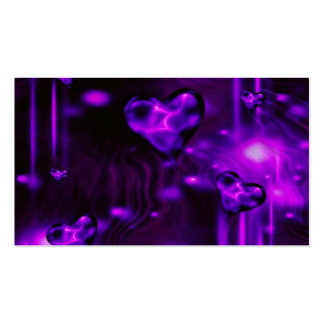 Purple Abstract Hearts Business Cards