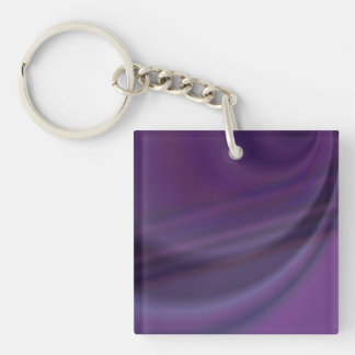 Purple abstract square acrylic keychain