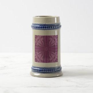 Purple abstract pattern beer steins