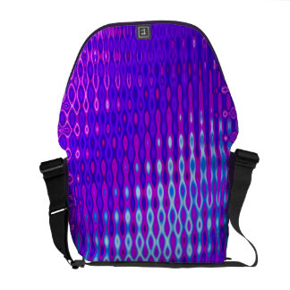 purple abstract pattern messenger bags