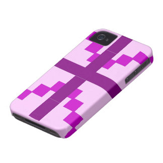 Purple Abstract pattern theme iPhone 4 Case-Mate Case