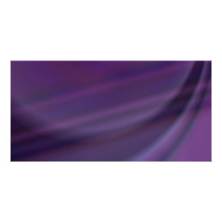 Purple abstract photo greeting card