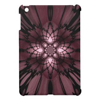 Purple Abstract Plum Black Web Optical Illusion iPad Mini Covers