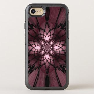 Purple Abstract Plum Black Web Optical Illusion OtterBox Symmetry iPhone 8/7 Case