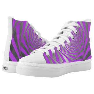 PURPLE ABSTRACT PRINTED SHOES