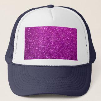 Purple Abstract Shine Glitter Trucker Hat