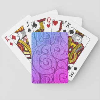 Purple Abstract Spiral Playing Cards